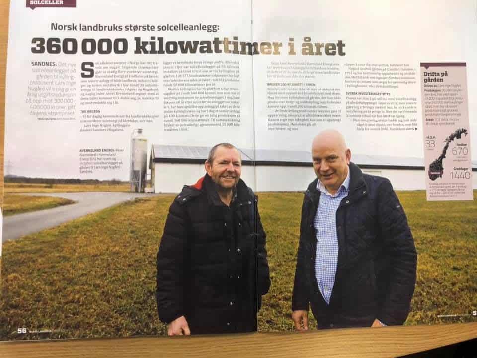 360 000kWh årsproduksjon til Livdyroppdrett | Norsk Landbruk